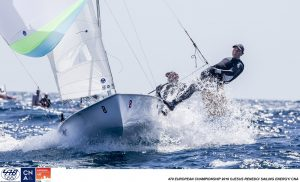 2016 470 European Championship, Bay of Palma, Mallorca, Spain, 5-12 April 2016 Featuring over 250 of the world's best 470 Men and Women Olympic Class sailors representing 33 nations ©Jesus Renedo/Sailing Energy/CNA